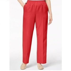 Alfred Dunner 18 Short Peony Classic Pants 6AS46